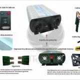 Invertor unda pur sinus 1000W 12V ITechSol®
