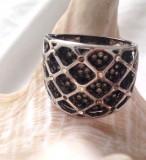 OFERTA-Inel/verigheta-placat cu aur 18k si cristale Swarovski- marimea 9 , 19mm