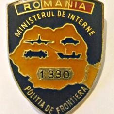 INSIGNA POLITIA DE FRONTIERA ANII 1990 GRANICERI MINISTERUL DE INTERNE MI