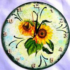 Ceas de perete cu floarea soarelui 28092