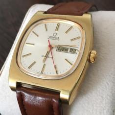 Ceas de mana Omega Geneve. Automatic. Placat cu aur. Elegant. Pozele sunt reale.