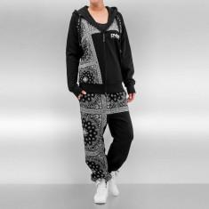 Trening hip hop femei Bandana DNGRS Paisley Negru - Trening dama, Marime: XS, S, L, XL, Culoare: Din imagine