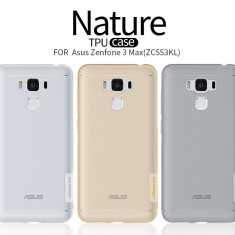 Husa Asus Zenfone 3 Max ZC553KL TPU Nature Transparenta by Nillkin - Husa Telefon Asus, Universala, Gel TPU, Fara snur, Carcasa