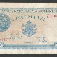 ROMANIA 5000 5.000 LEI 10 OCTOMBRIE 1944 [16] P-55 - Bancnota romaneasca