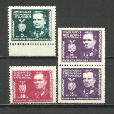 IUGOSLAVIA DEMOCRATA FEDERATIVA--1945 MNH, Nestampilat