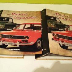 Lot revista Masini de Legenda, DeAgostini, 10 numere + 2 bibliorafturi - Revista auto