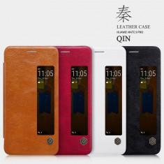 Husa HUAWEI Mate 9 Pro Qin Leather by Nillkin Neagra - Husa Telefon Huawei, Negru, Piele Ecologica, Cu clapeta, Toc