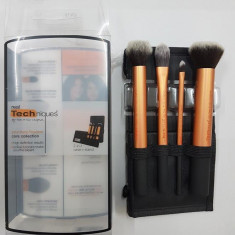 Set 4 pensule profesionale machiaj Real Techniques - Pensula machiaj
