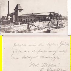 Galati- Pescariile statului- rara - Carte Postala Moldova 1904-1918, Circulata, Printata