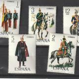 Uniforme militare nr 41-45 Spania, - Timbre straine, Nestampilat