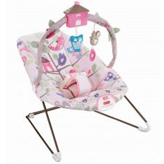 Balansoar copii pana la 9 kg tip leagan portabil Fisher-Price Tree Party, roz, ID264 - Balansoar interior