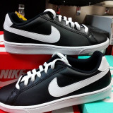 Adidasi Nike Court Majestic-piele -garantie-produs autentic - made in Vietnam - Adidasi barbati Nike, Marime: 39, 40, Culoare: Negru, Piele naturala