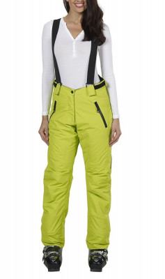 Pantaloni ski, snowboard pentru femei, marime 40, cu bretele detasabile, Fifty Five, verde, ID435 foto