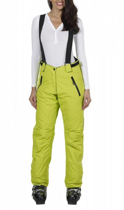 Pantaloni ski, snowboard pentru femei, marime 40, cu bretele detasabile, Fifty Five, verde, ID435 foto mare