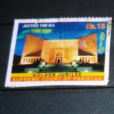 Timbru circulat Jubileu Aur Ministerul Justitiei PAKISTAN 2+1 gratis RBK21040