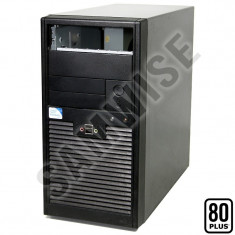 ***SUPER IEFTIN*** Carcase Black Miditower + Sursa 250W Eficenta 80+ GARANTIE !! - Carcasa PC, Middle tower, Sursa inclusa