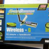 Adaptor Placa Retea PCI WiFi Linksys WMP54GS-EU - Adaptor wireless