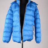 Geaca de fas marime XL, pentru barbati, gluga detasabila, albastru, ID417 - Geaca barbati