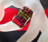 Inel pietre Swarovski  - marimea 6, 16 mm