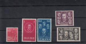 ROMANIA  1948  LP 236  CENTENARUL REVOLUTIEI  DE LA 1848 SERIE MNH