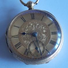 Ceas de buzunar Adam Burdess din aur 18k-1012 - Ceas de buzunar vechi