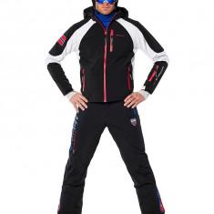 Geaca sport de ski, snowboard, munte marime XL pentru barbati, Nebulus Platinum model Rockshell, negru cu alb, ID427 - Echipament ski, Geci