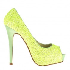 Pantofi dama Katia galbeni