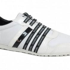 Pantofi sport barbatesti Diesel marime 43, model CB-293-A, alb-negru, ID150 - Adidasi barbati