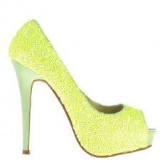 Pantofi dama Katia galbeni - Pantof dama