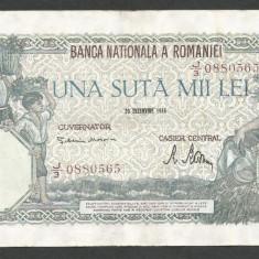ROMANIA 100000 100.000 LEI 20 DECEMBRIE 1946 [11] XF+ - Bancnota romaneasca