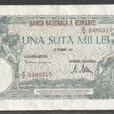 ROMANIA 100000 100.000 LEI 20 DECEMBRIE 1946 [15] XF+ - Bancnota romaneasca
