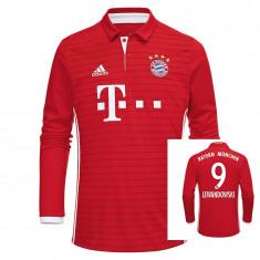 Tricou maneca lunga BAYERN, 9 LEWANDIWSKY - Tricou echipa fotbal, Marime: L, M, S, Culoare: Din imagine, De club, Bayern Munchen
