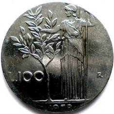 ITALIA, 100 LIRE 1979, DIAMETRU MAI MIC DECAT UZUAL !!!, Europa, Crom
