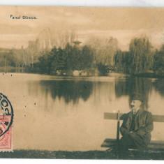 3756 - Dolj, CRAIOVA, Bibescu Park - old postcard - used - 1912 - TCV, Circulata, Printata