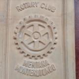 Masonerie - placa din ceramica arsa Rotary Club Italia anul 1982 / de colectie ! - Metal/Fonta