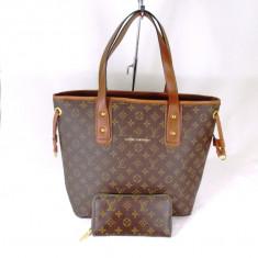 Set geanta si portofel LV Louis Vuitton+CADOU - Geanta Dama, Culoare: Din imagine, Marime: Mare