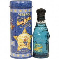Apa de Toaleta Versace Blue Jeans, Barbati, 75ml Original - Parfum barbati Versace, Oriental