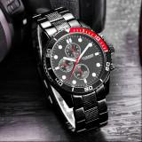 NOU Ceas CURREN Chronometer negru rosu metalic barbati elegant + cutie de cadou - Ceas barbatesc Curren, Quartz, Metal necunoscut, Analog