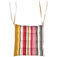 Perna scaun Heinner 38x40x5 cm, dungi roz, material 100% bumbac, HR-CPAD-PK01