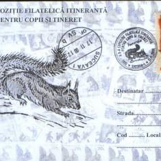 Romania - 2000-Plic oc.- Veverita - Suceava - Expozitia itineranta filatelica