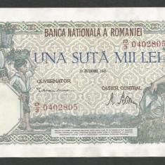ROMANIA 100000 100.000 LEI 20 DECEMBRIE 1946 [02] XF+++ - Bancnota romaneasca
