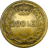 ROMANIA, 200 LEI 1945, eroare de batere * cod 16 - Moneda Romania, Alama