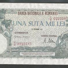 ROMANIA 100000 100.000 LEI 20 DECEMBRIE 1946 [13] XF+ - Bancnota romaneasca