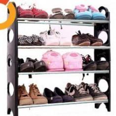 Raft pentru pantofi 4 suporturi Stackable Shoe Rack cu 12 perechi - Pantofar hol