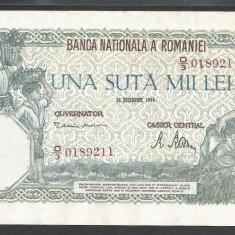 ROMANIA 100000 100.000 LEI 20 DECEMBRIE 1946 [1] XF+++ - Bancnota romaneasca