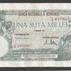 ROMANIA 100000 100.000 LEI 20 DECEMBRIE 1946 [14] XF+ - Bancnota romaneasca
