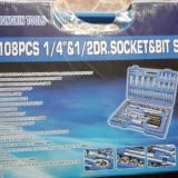 Trusa cu scule 108 piese scule mecanici chei
