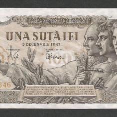 ROMANIA 100 LEI 1947 5 DECEMBRIE [2] XF++ a UNC - Bancnota romaneasca