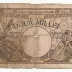 ROMANIA 2000 2.000 LEI 18 Noiembrie 1941 [35] starea din imagine - Bancnota romaneasca