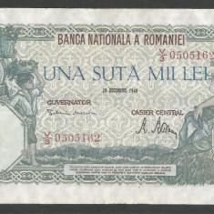ROMANIA 100000 100.000 LEI 20 DECEMBRIE 1946 [9] XF++ - Bancnota romaneasca